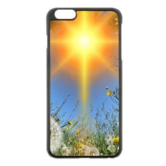 Dandelions Apple iPhone 6 Plus Black Enamel Case