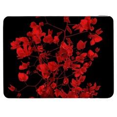 Dark Red Flower Samsung Galaxy Tab 7  P1000 Flip Case