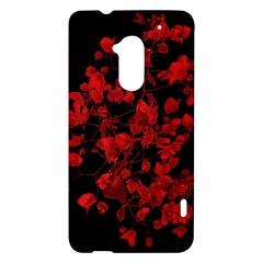 Dark Red Flower HTC One Max (T6) Hardshell Case