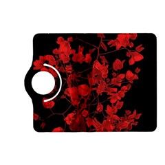Dark Red Flower Kindle Fire HD (2013) Flip 360 Case