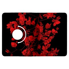 Dark Red Flower Kindle Fire Hdx Flip 360 Case