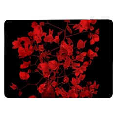 Dark Red Flower Samsung Galaxy Tab Pro 12.2  Flip Case