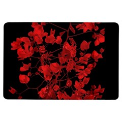 Dark Red Flower Apple iPad Air Flip Case