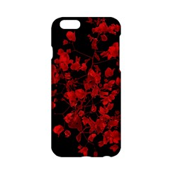 Dark Red Flower Apple Iphone 6 Hardshell Case