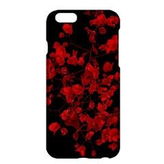 Dark Red Flower Apple iPhone 6 Plus Hardshell Case