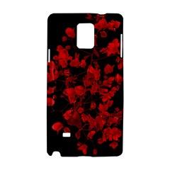 Dark Red Flower Samsung Galaxy Note 4 Hardshell Case