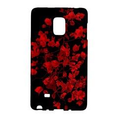 Dark Red Flower Samsung Galaxy Note Edge Hardshell Case