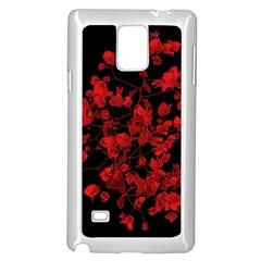 Dark Red Flower Samsung Galaxy Note 4 Case (White)