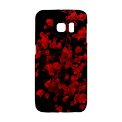 Dark Red Flower Samsung Galaxy S6 Edge Hardshell Case