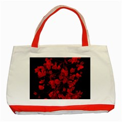 Dark Red Flower Classic Tote Bag (red)