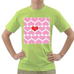 One Love Men s T-shirt (Green)