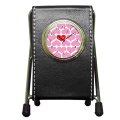 One Love Stationery Holder Clock