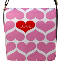 One Love Flap Closure Messenger Bag (small)