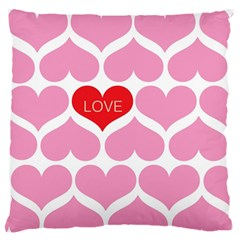 One Love Large Flano Cushion Case (Two Sides)