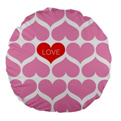 One Love Large 18  Premium Flano Round Cushion