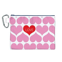 One Love Canvas Cosmetic Bag (Large)