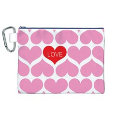 One Love Canvas Cosmetic Bag (XL)