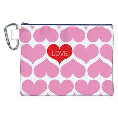 One Love Canvas Cosmetic Bag (XXL)