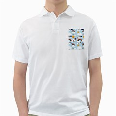 Be Happy Repeat Men s Polo Shirt (White)