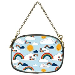 Be Happy Repeat Chain Purse (one Side)