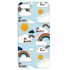 Be Happy Repeat Apple Iphone 5 Hardshell Case With Stand