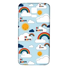 Be Happy Repeat Samsung Galaxy S5 Back Case (White)