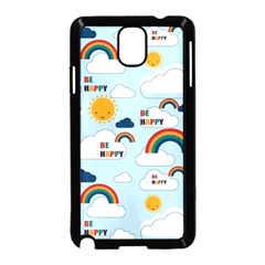 Be Happy Repeat Samsung Galaxy Note 3 Neo Hardshell Case (Black)