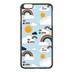 Be Happy Repeat Apple iPhone 6 Plus Black Enamel Case