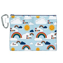 Be Happy Repeat Canvas Cosmetic Bag (XL)