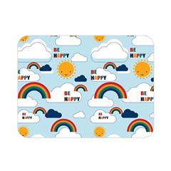 Be Happy Repeat Double Sided Flano Blanket (mini)