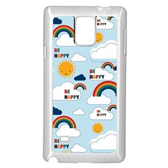 Be Happy Repeat Samsung Galaxy Note 4 Case (White)