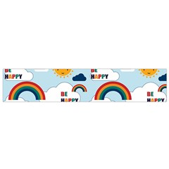 Be Happy Repeat Flano Scarf (Small)