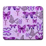 Purple Awareness Butterflies Large Mouse Pad (Rectangle) Front