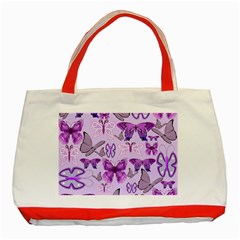 Purple Awareness Butterflies Classic Tote Bag (red)