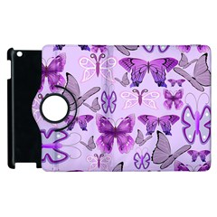 Purple Awareness Butterflies Apple iPad 2 Flip 360 Case