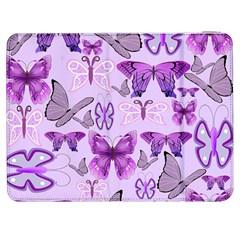 Purple Awareness Butterflies Samsung Galaxy Tab 7  P1000 Flip Case