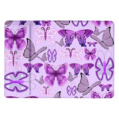 Purple Awareness Butterflies Samsung Galaxy Tab 10 1  P7500 Flip Case