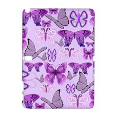 Purple Awareness Butterflies Samsung Galaxy Note 10.1 (P600) Hardshell Case
