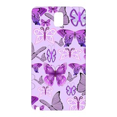 Purple Awareness Butterflies Samsung Galaxy Note 3 N9005 Hardshell Back Case
