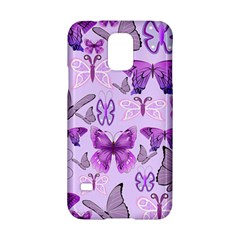 Purple Awareness Butterflies Samsung Galaxy S5 Hardshell Case