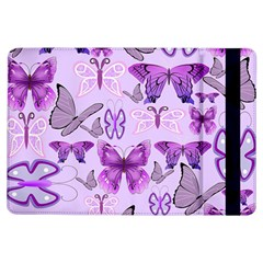 Purple Awareness Butterflies Apple Ipad Air Flip Case