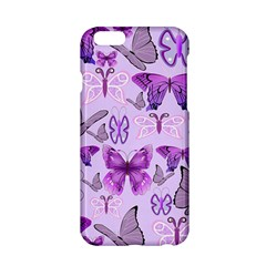 Purple Awareness Butterflies Apple Iphone 6 Hardshell Case
