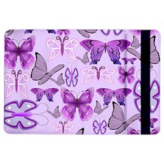 Purple Awareness Butterflies Apple Ipad Air 2 Flip Case