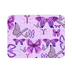 Purple Awareness Butterflies Double Sided Flano Blanket (Mini)