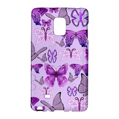 Purple Awareness Butterflies Samsung Galaxy Note Edge Hardshell Case