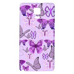 Purple Awareness Butterflies Samsung Note 4 Hardshell Back Case