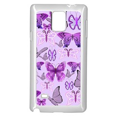 Purple Awareness Butterflies Samsung Galaxy Note 4 Case (White)