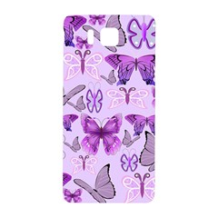 Purple Awareness Butterflies Samsung Galaxy Alpha Hardshell Back Case