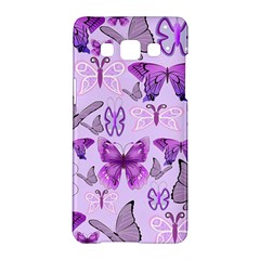 Purple Awareness Butterflies Samsung Galaxy A5 Hardshell Case