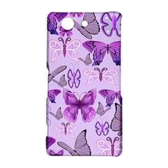 Purple Awareness Butterflies Sony Xperia Z3 Compact Hardshell Case